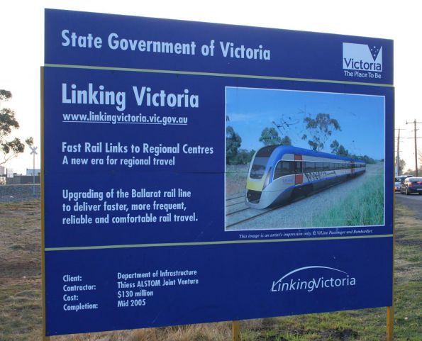 Government propaganda sign at Deer Park spruiking the RFR project