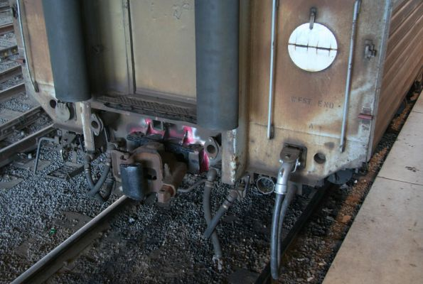 Repairs to the coupler on PCJ492, after it hit the buffers in February 2009