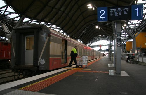The last parcels traffic on V/Line - blood products