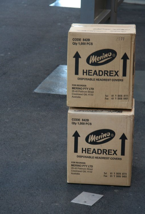 2000 count of new headrest covers