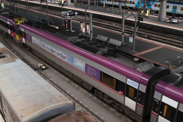 'This is a quiet carriage' advertising on 3VL47