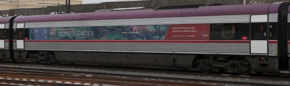 Advertising on VLocity carriage 1344 for the 'Monet's Garden' exhibition