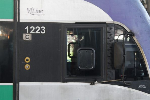 Modified cab window on VLocity VL18
