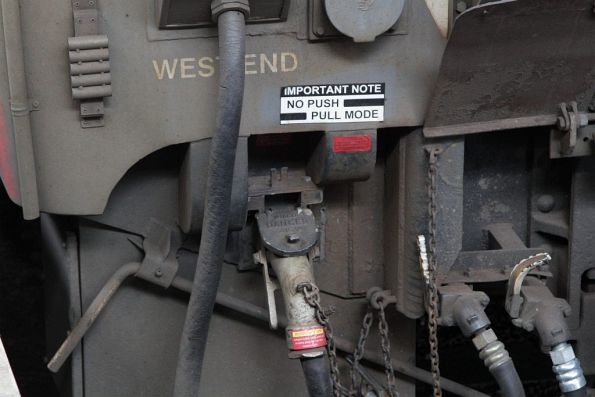 'No push pull mode' notice on modified 6-carriage H set SSH28