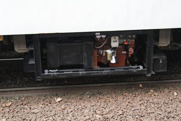 Underfloor diesel generator beneath a V/Line N set carriage