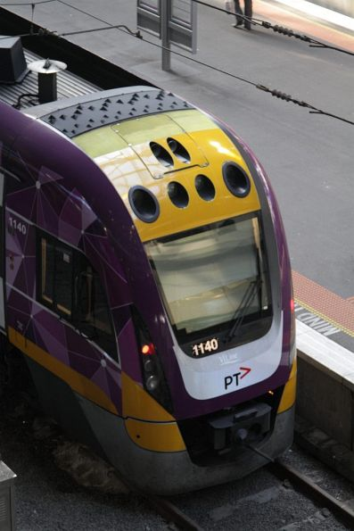 Detail of the PTV livery applied to VLocity 3VL40