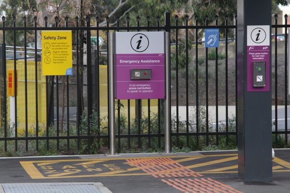 New V/Line emergency assistance and next train information buttons installed at Sunshine platform 4