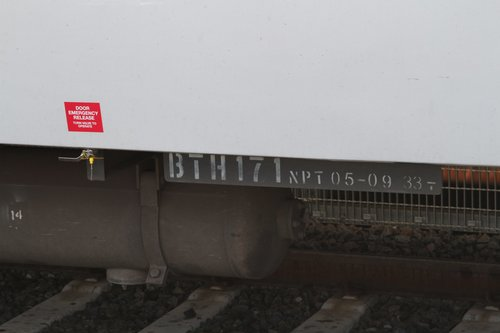 New emergency door release valve on the underframe of a BTH carriage