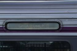 'Grovedale' displayed on the destination board of a Sprinter train bound for Waurn Ponds