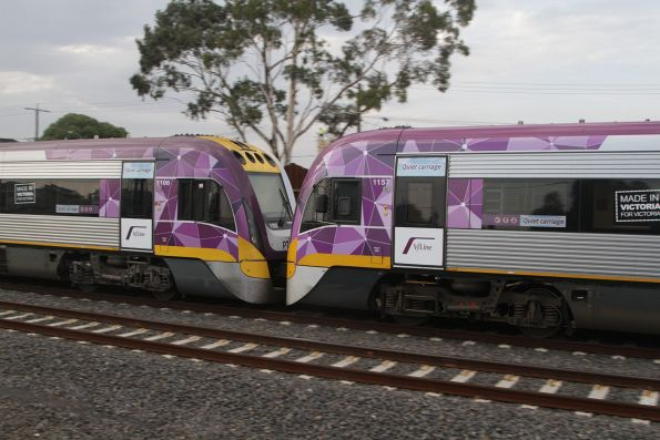 VLocity 3VL06 and 3VL57 on the down at Middle Footscray