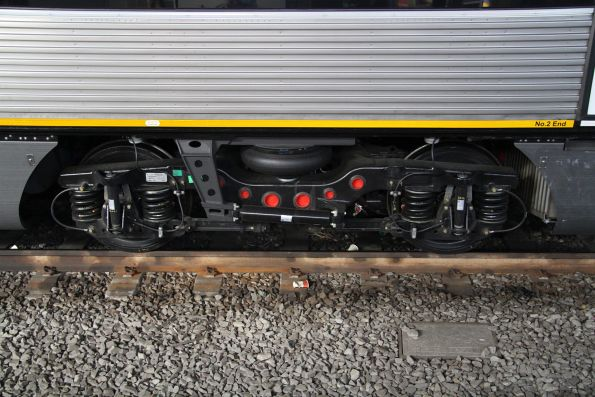 Clean bogie beneath newly completed VLocity VL62