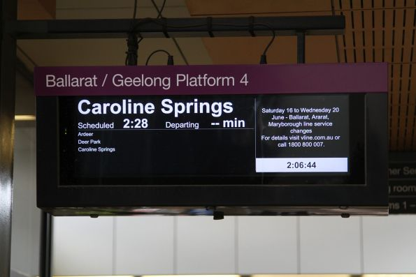Trains terminating at Caroline Springs due to works on the Ballarat line