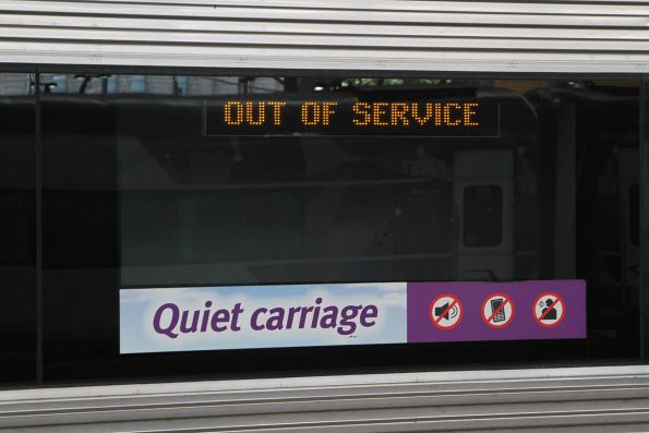 'Out of service' on a VLocity train external PIDS
