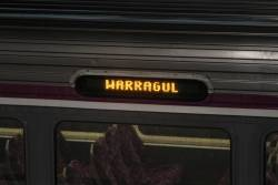 'Warragul' on a Sprinter destination board