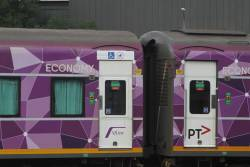 'Wheelchair and pram access' sticker above the door of a BZN carriage