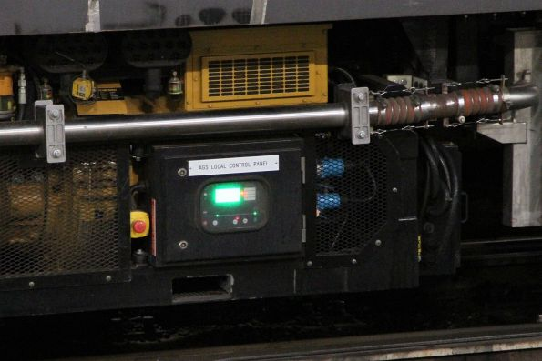 'AGS local control panel' on the new generator set beneath carriage BRN56