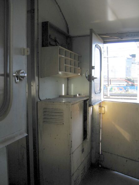 PCJ van: storage area inside the guards van