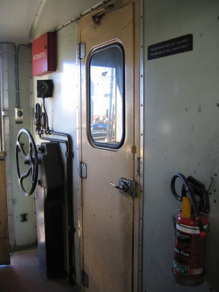 PCJ van: handbrake wheel and detonators in the guards van