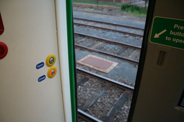 Please ensure the platform is available before stepping from the train...