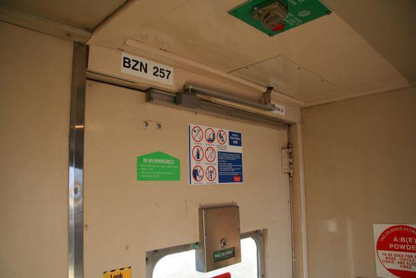 Sticker with the incorrect code BZN257 inside BCZ257