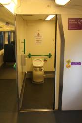Direct toilet views onboard a VLocity train