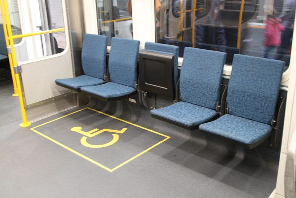 Luggage cage replaced by a wheelchair area onboard Sprinter 7012