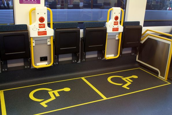 Redesigned wheelchair area onboard VLocity VL77