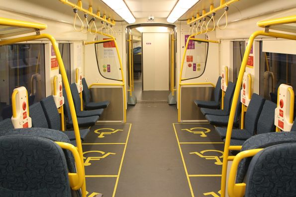 Six wheelchair spaces onboard 'short distance' VLocity carriage 1376