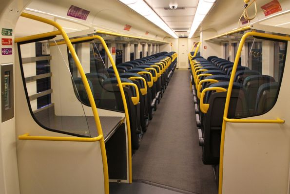 Single luggage rack onboard 'short distance' VLocity carriage 1276