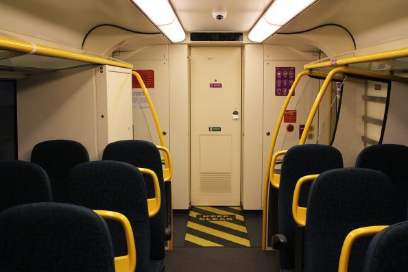 No baggage racks at the cab end of 'short distance' VLocity carriage 1176