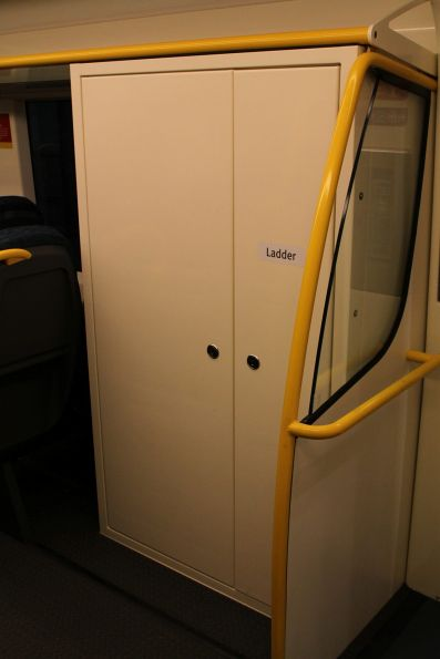 High capacity signalling equipment cabinet onboard 'short distance' VLocity carriage 1176