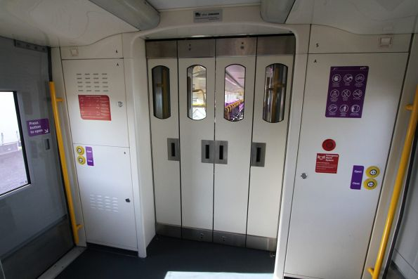 Intercarriage doors closed onboard VLocity VL26