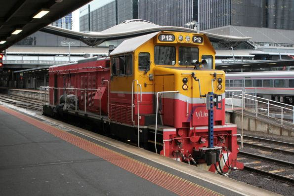P12 on arrival at Southern Cross Station