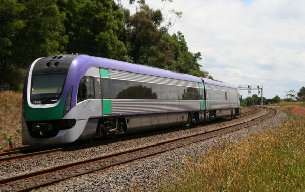 Vlocity on the up outside Warragul