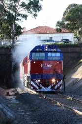 N470 blasts out of the Geelong Tunnel