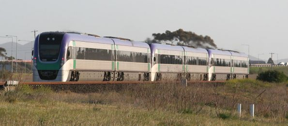 Triple VLocity units on an Up Geelong express at Corio
