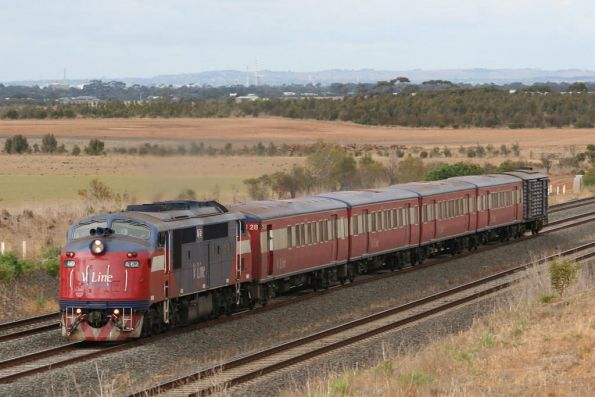 A62 on an up Geelong service outside Little River