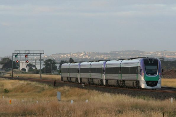 Vlocity on the way to Geelong, outside Corio