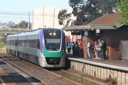 VL08 leads another unit into North Geelong