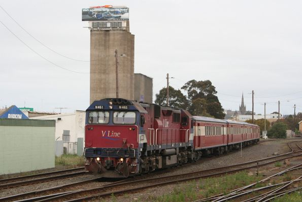 N461 on the up at Geelong