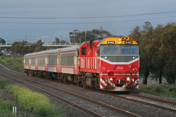 N468 on the down at North Geelong