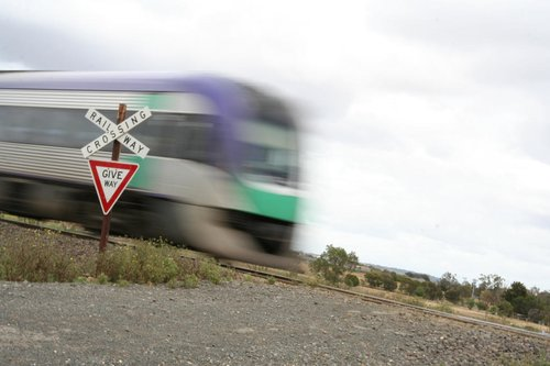 Vlocity passes through an unprotected level crossing of DOOM!