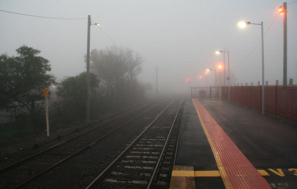 Nothing but more fog at the down end of South Geelong