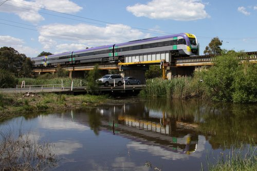 3VL23 and classmate crosses the Barwon River bound for Marshall