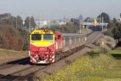N469 leads an up Geelong train at North Geelong
