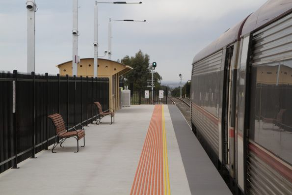 VLocity awaiting departure time from the new Waurn Ponds station