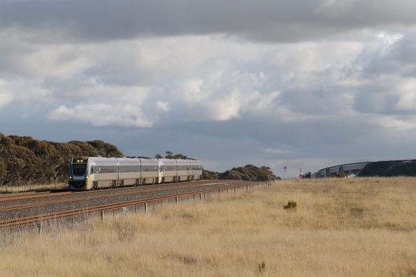 Pair of 3-car VLocity units on an up Geelong service pass Manor Junction bound for Werribee