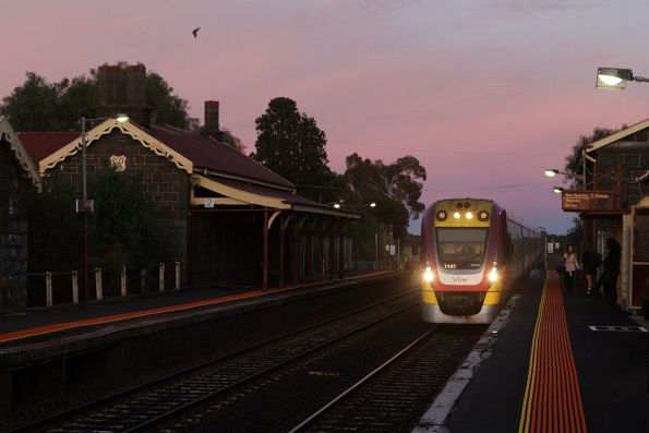 VLocity 3VL43 arrives into Little River with an up Geelong service