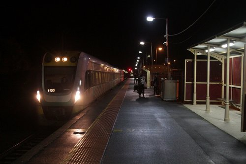 VLocity 3VL33 arrives into South Geelong on an up service