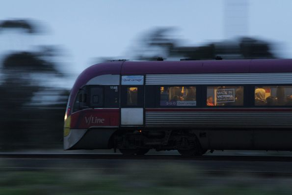Plenty of standing passengers onboard this Melbourne-bound Geelong line service